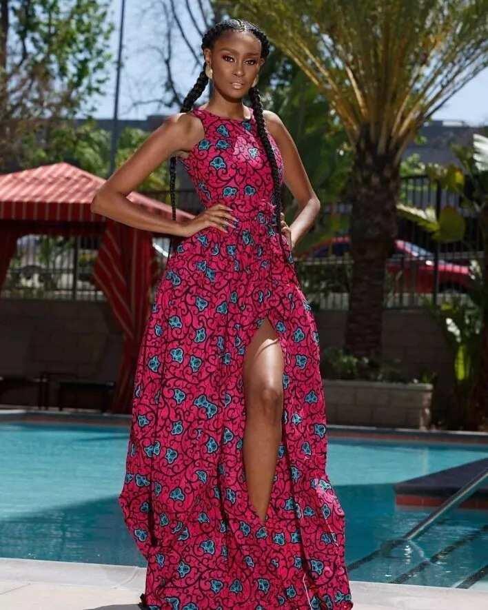slim-waist-long-dress - afrikanza