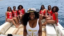 Stunning bride shares jaw dropping pre-wedding photos with her girls in swimwear