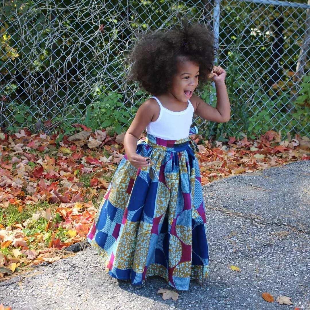 Ankara long flared skirt