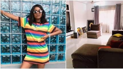 Singer Simi shows off simple yet stylish decor of living room (photos)