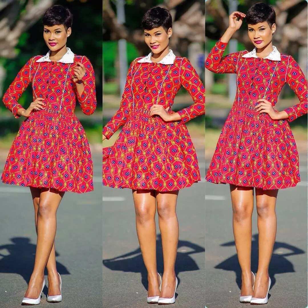 bfe90351d1d2 Ankara short gown styles 2017-2018 ▷ Legit.ng