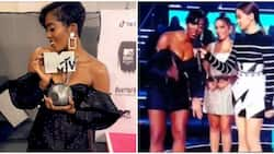Tiwa Savage wins Best African Act at MTVEMA 2018, thanks fans and Don Jazzy (photos, video)