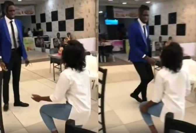 Lady embarrassed after her boyfriend rejected her marriage proposal (video)