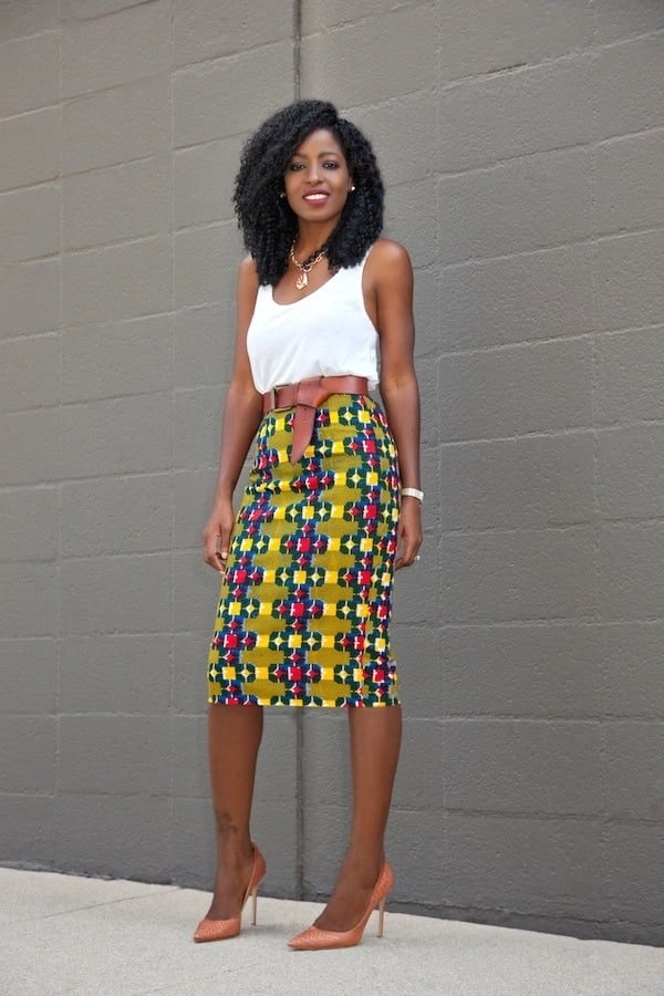 Shoes with high heel and accessories for Ankara top and skirt