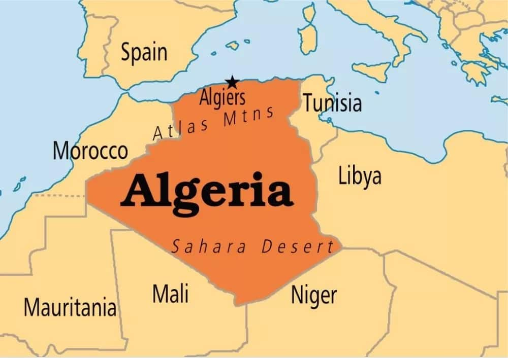 Largest country in Africa by area Algeria
