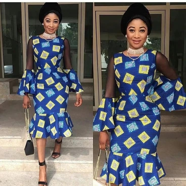 Fashion In Nigerian Traditional Styles Ankara And Black Lace