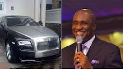 Pastor David Ibiyeomie receives Rolls Royce from 'successful' church member for his 55th birthday