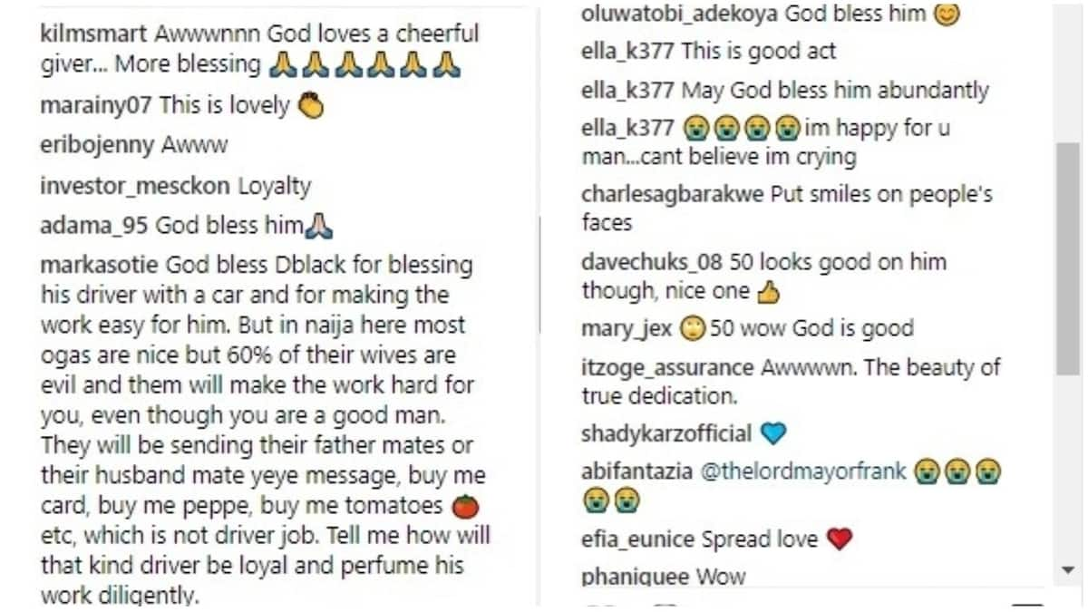 Ghanaian singer gifts his personal driver a brand new car as his driver turns 50