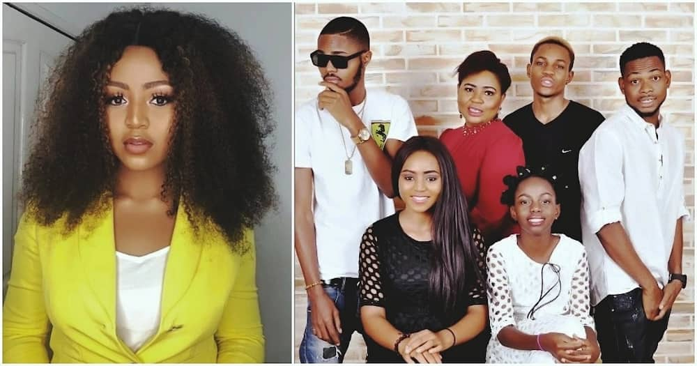 Image result for REGINA DANIELS AND STEP SON