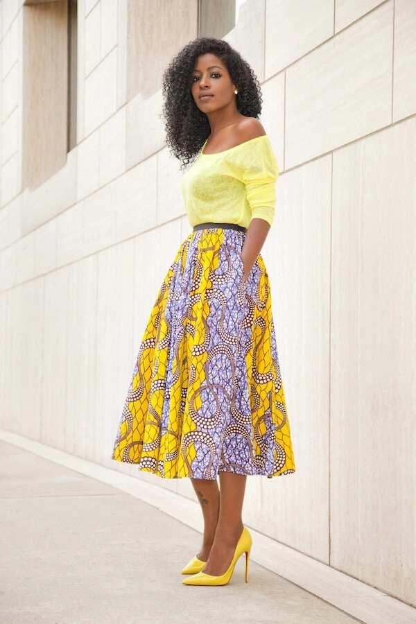 Ankara flared skirt and top