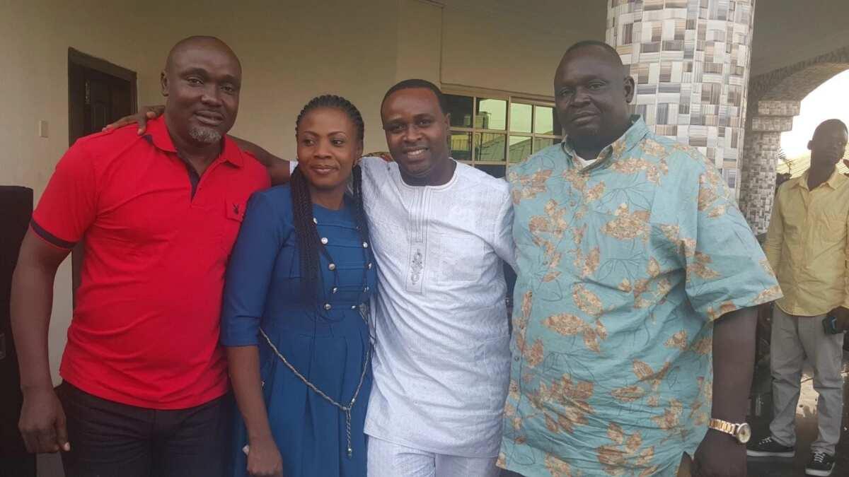 Femi Adebayo and friends