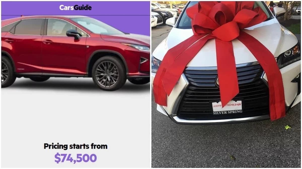 Husband surprises his wife with a Lexus SUV