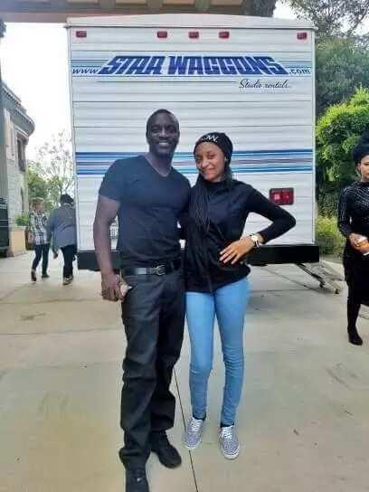 Hotunan Rahama Sadau tare da su Akon ▷ Legit ng