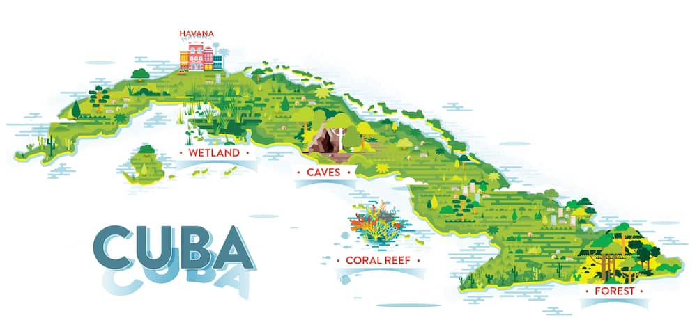 Where is Cuba located in the world?