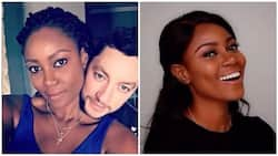 Yvonne Nelson's baby daddy arrives Ghana to spend time with her and the new baby (Photo)