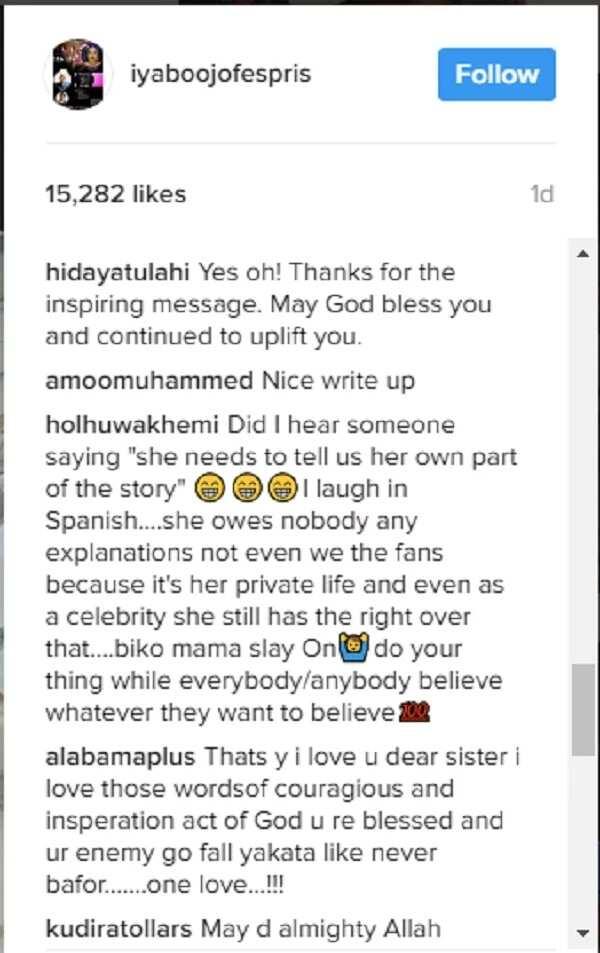 Iyabo Ojo finally speaks since the Apostle Suleman scandal