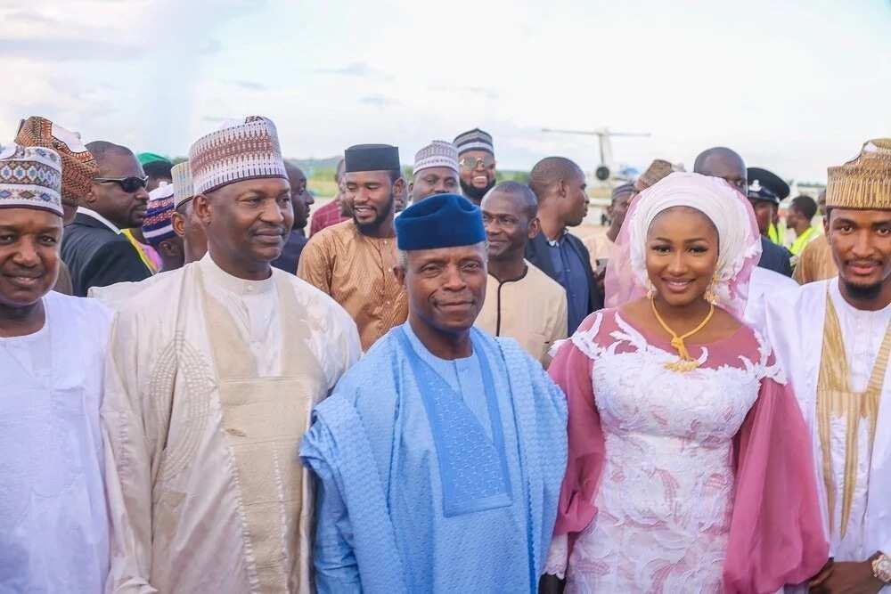 Bikin manya: Shugabannin Najeriya sun halarci bikin diyar Ministan Buhari, hotuna