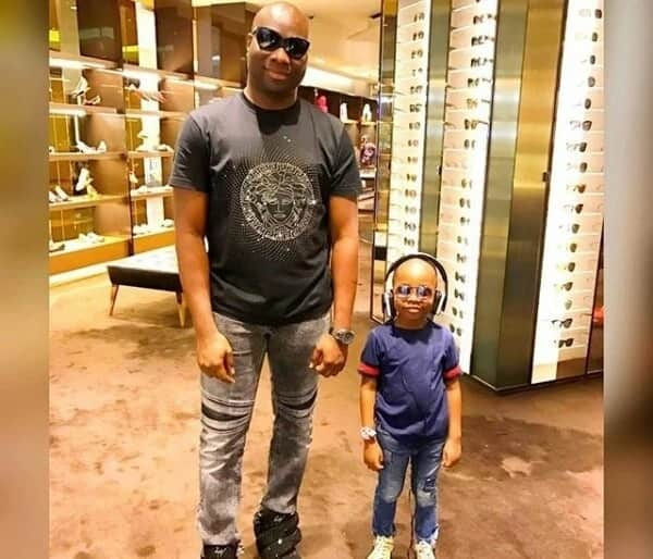 Mompha buys brand new Rolex wristwatch for his 6-year-old son (photos, video)