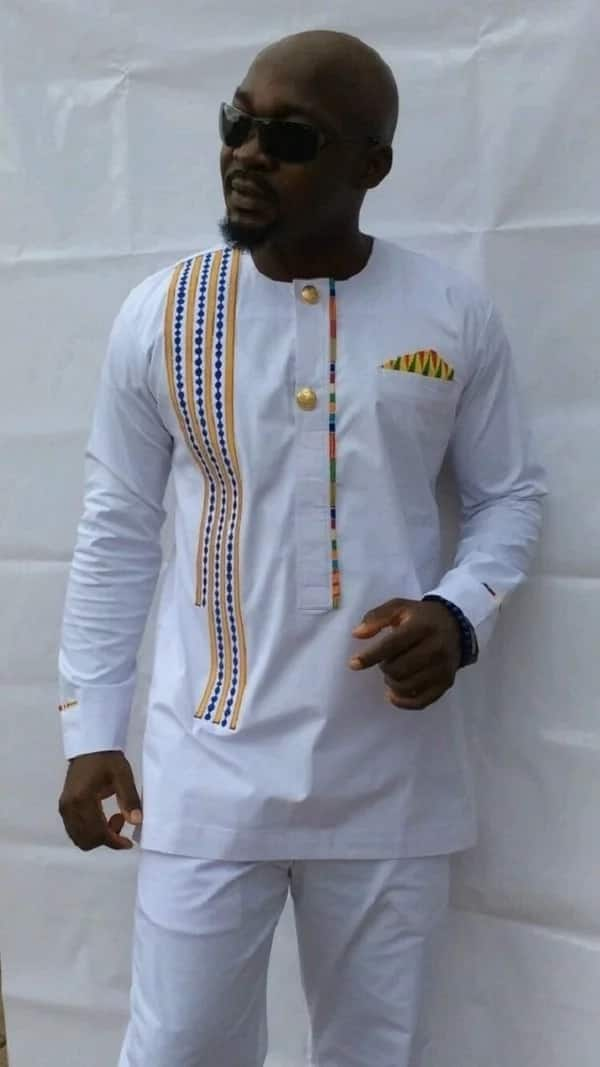 Kaftan style with embroidery