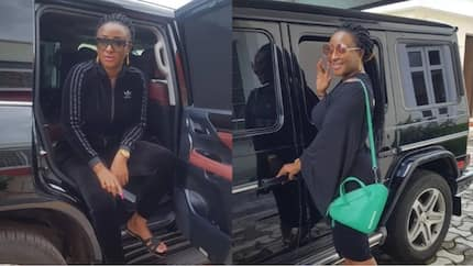Ini Edo shares stylish photos with her multi million black G-Wagon Benz