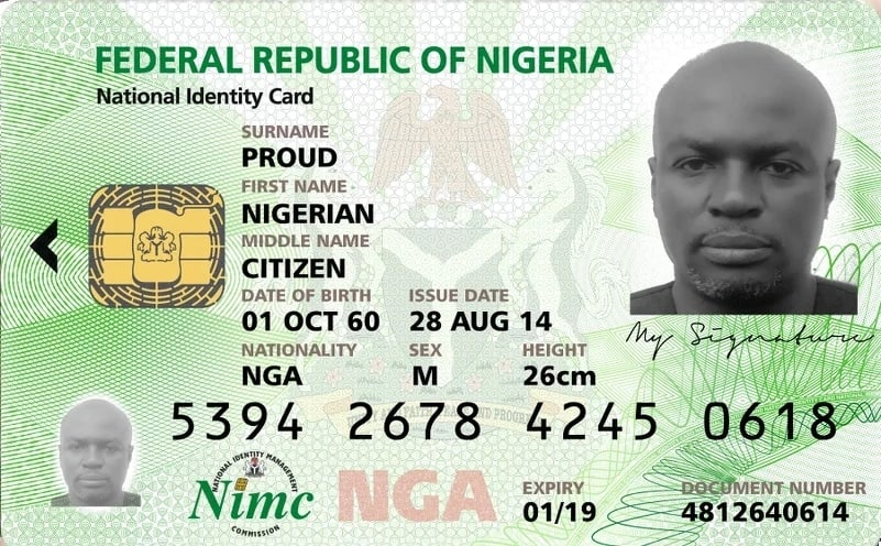 National ID card format