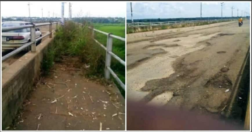 Residents call on the government to repair the road. Credit; Utor Msughter