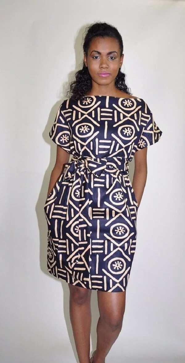 Ankara straight gowns with a raglan sleeve