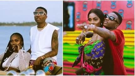 Tiwa Savage shares sizzling photos with Wizkid amidst dating rumours