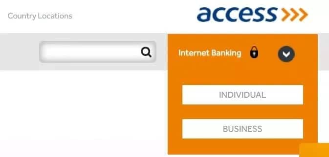 Access Bank online account balance check individual or business