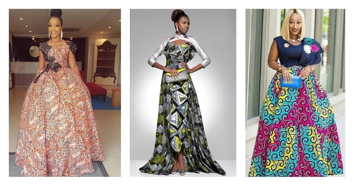 Beautiful Ankara gowns for solemn events