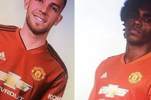 Willian and Toby Alderweireld photo-shopped into Manchester United jersey. Photo Credit: The Sun