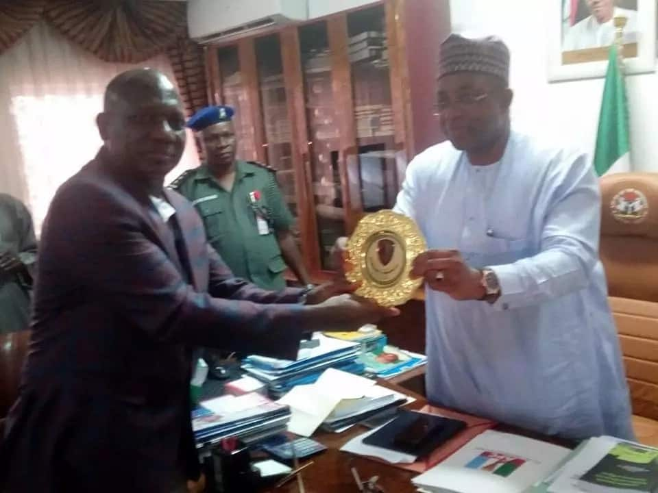 Breaking: IG shuns Senate invitation over Melaye saga, accompanies Buhari to Bauchi