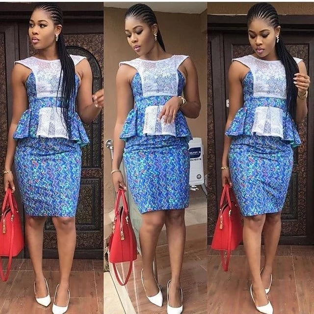 157567036732c2 ... necessary to follow three basic rules: look festive, do not to wear  white (this color is for the bride) and forget about jeans. Ankara skirt  and blouse ...