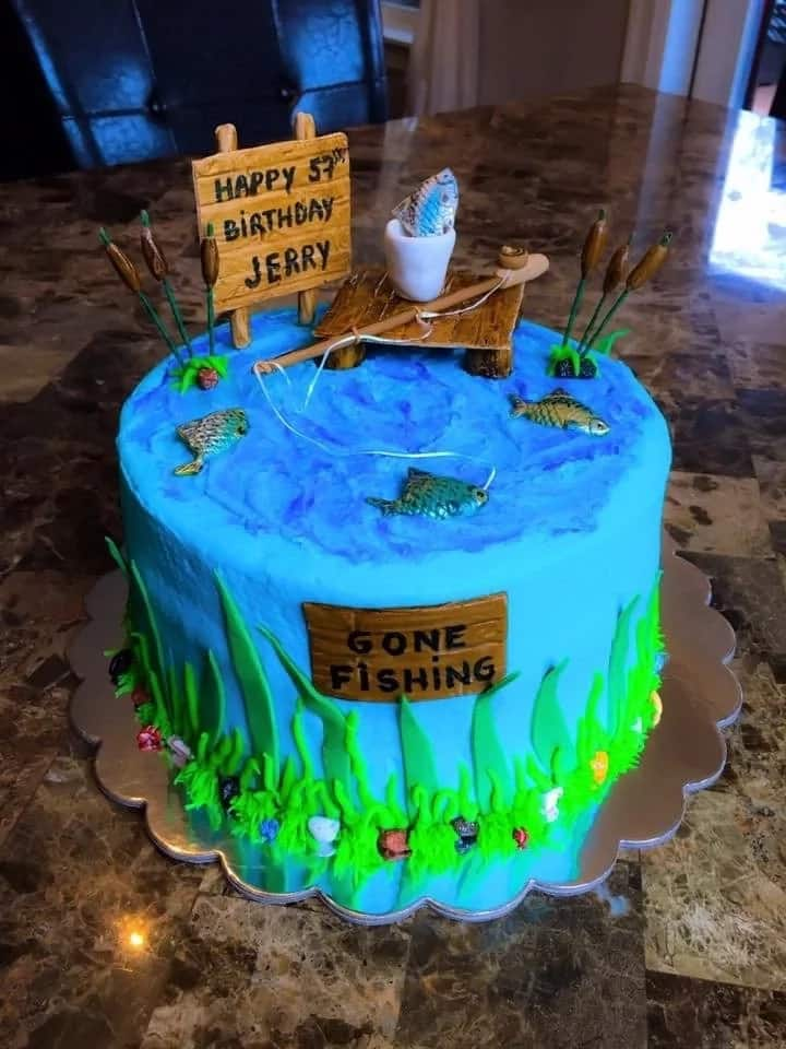 Birthday Cake For Husband Who Likes Fishing