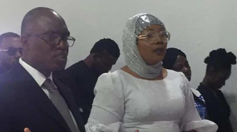 Actress Eucharia Anunobi at her son's burial