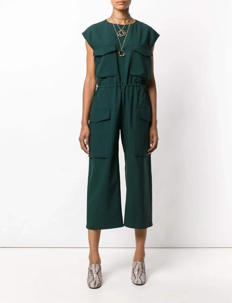 Green baggy jumpsuit