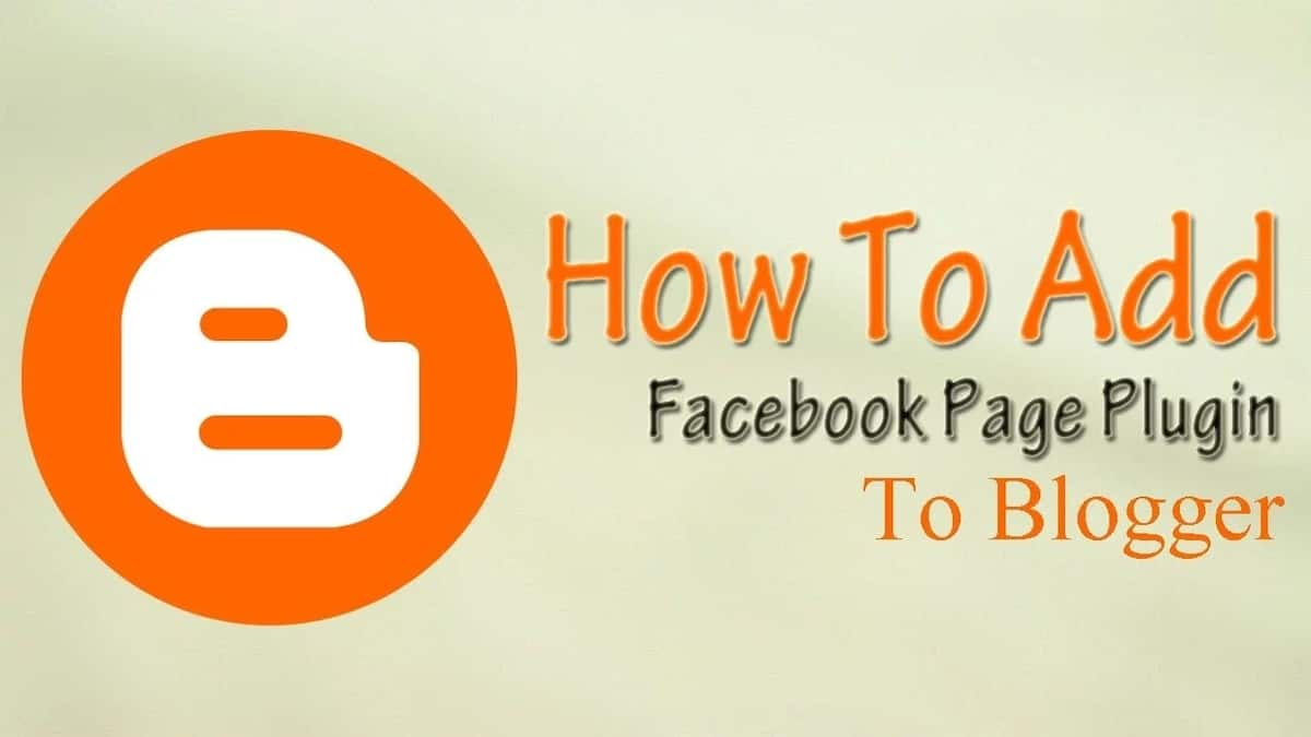 How to add Facebook page to Blogger?