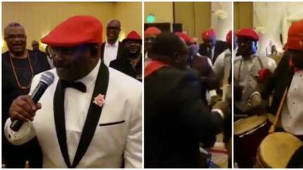 Nigerian Pyrates Confraternity members party hard to celebrate a member's 60th birthday (videos)
