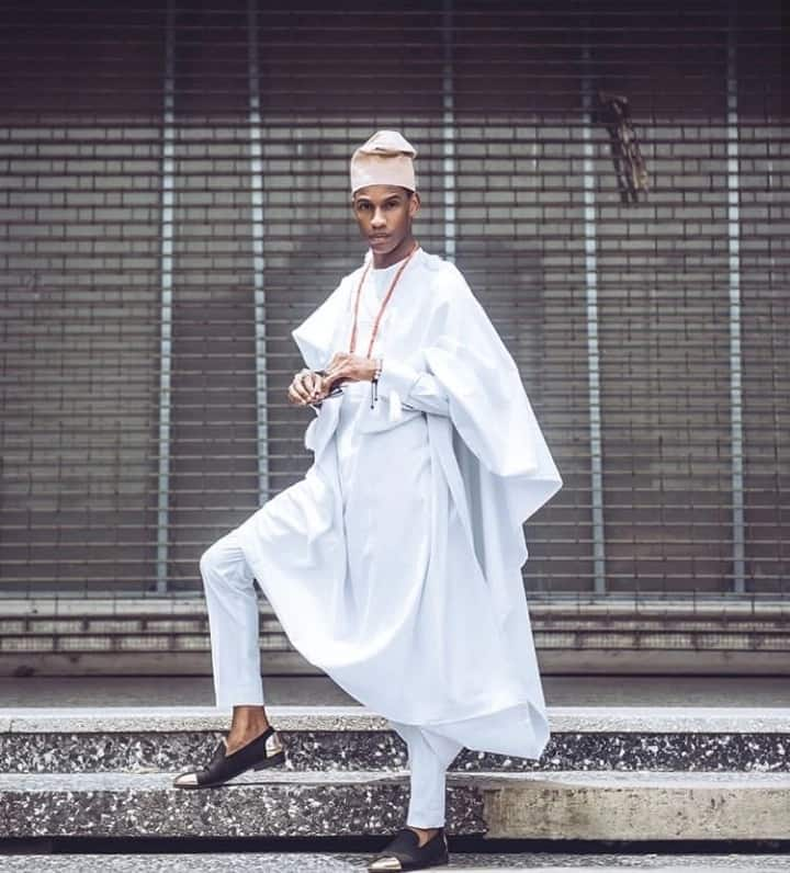 Agbada style for guys with skinny trousers