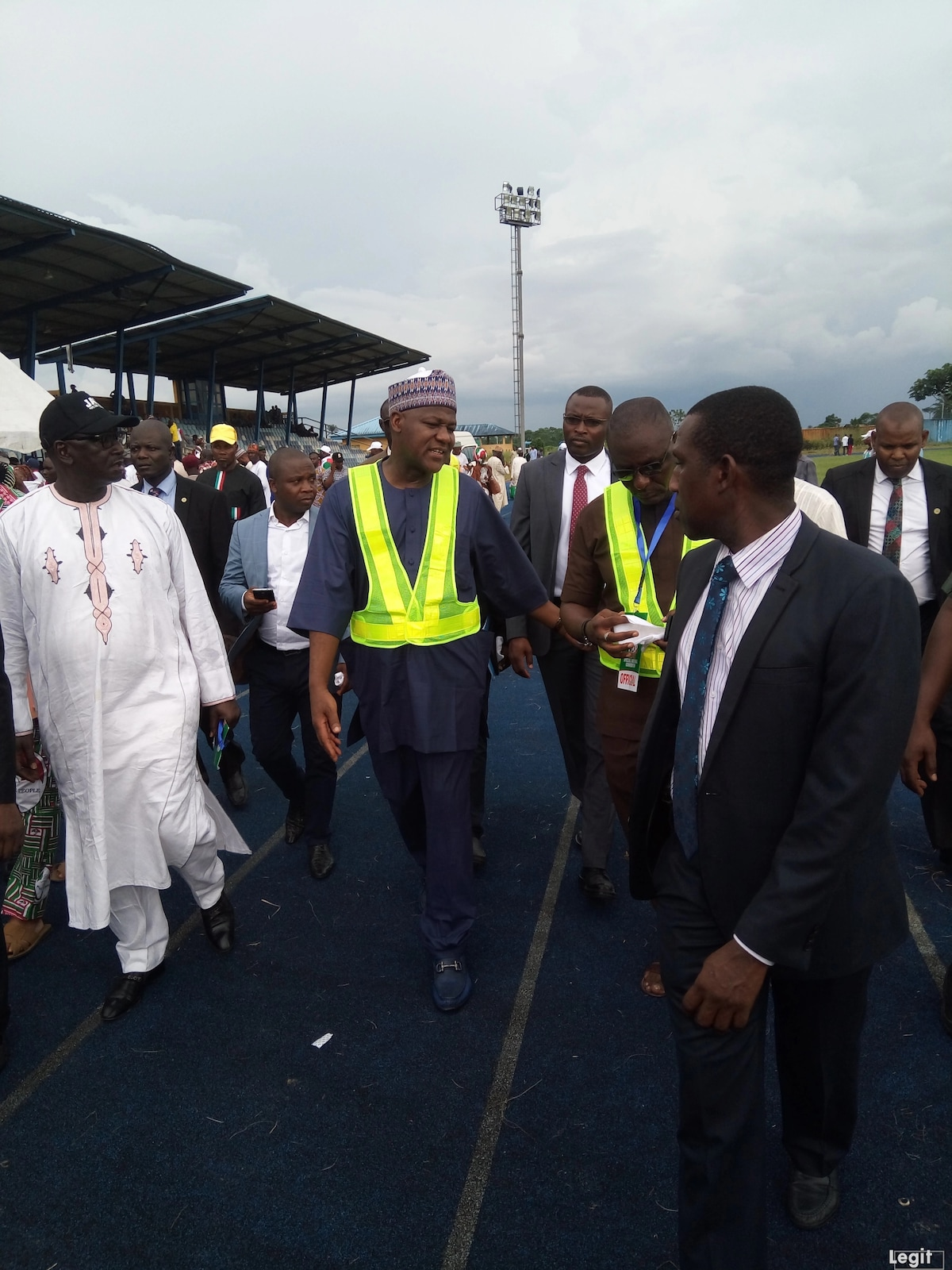 Yakubu Dogara arriving the PDP national convention holding in Port Harcourt. Source: Original