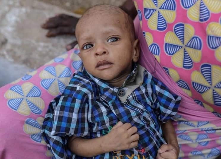 Adorable baby boy at a Motherless Babies Home named after President Buhari