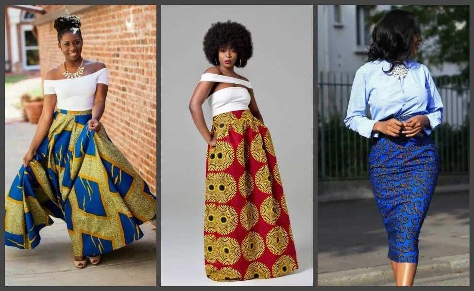 a3a3b6d353 High waisted Ankara skirts: Fresh designs 2017 ▷ Legit.ng