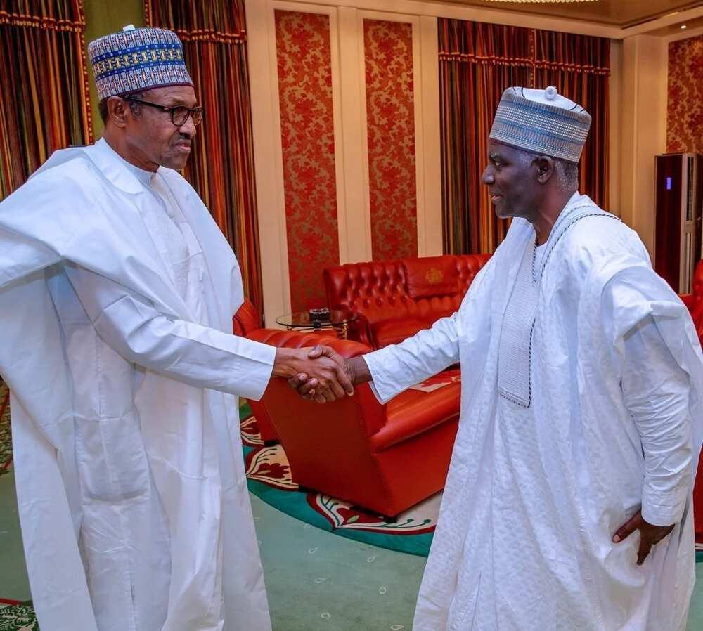 Yusuf Bichi tare da shugaban kasa Buhari