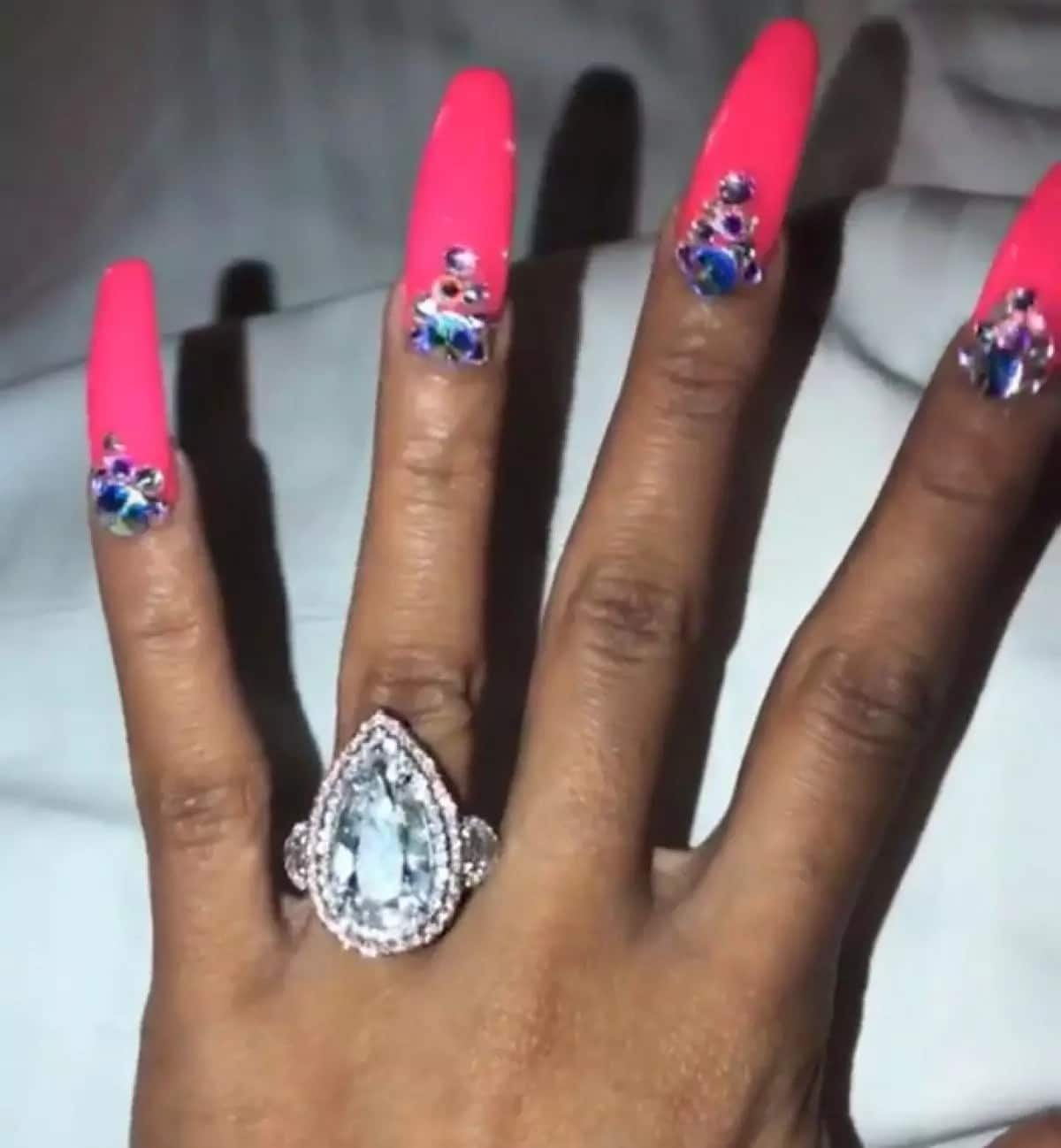 Cardi B engagement ring