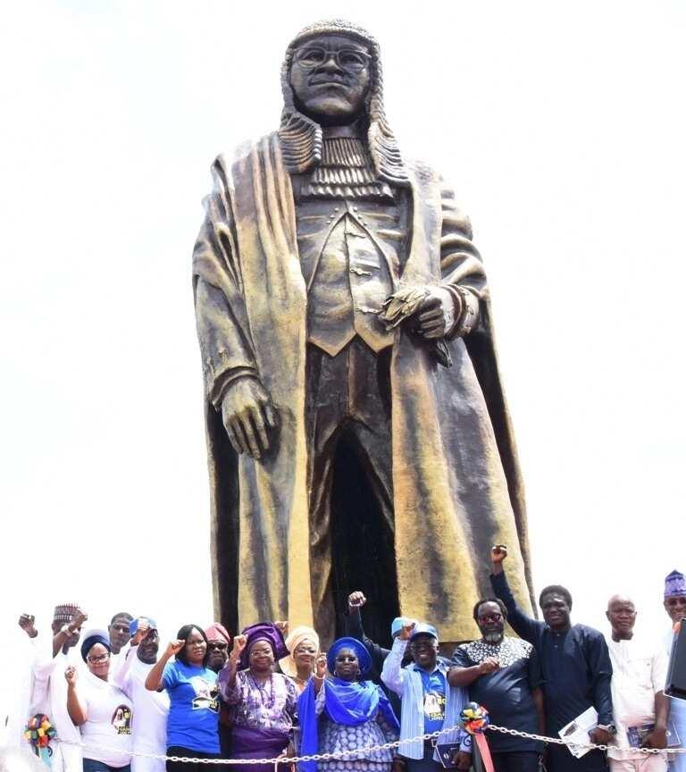 Family speak on new Gani Fawehinmi's new 44-feet statue, endorse Ambode for 2019