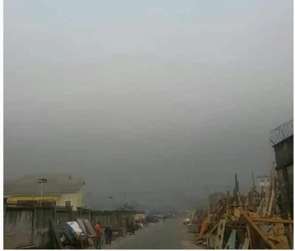 Port Harcourt residents alarm at black soot falling from the sky