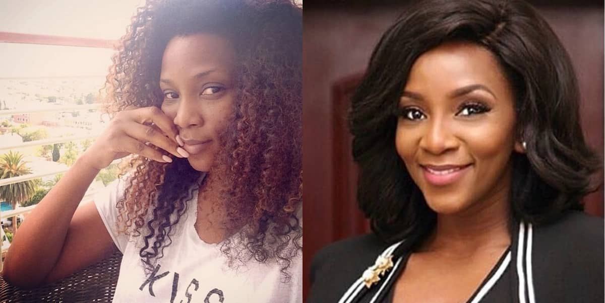 Genevieve Nnaji without and with makeup
