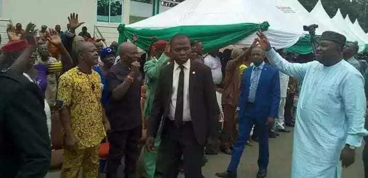 Jubilation as Enugu pensioners drum support for Ugwuanyi