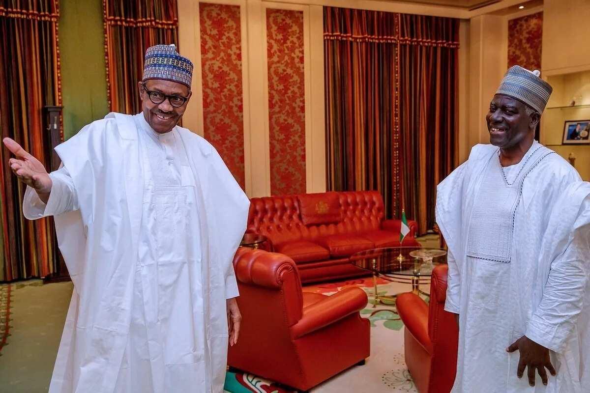 Sabon shugaban hukumar tsaro ta DSS ya ziyarci Buhari, hotuna