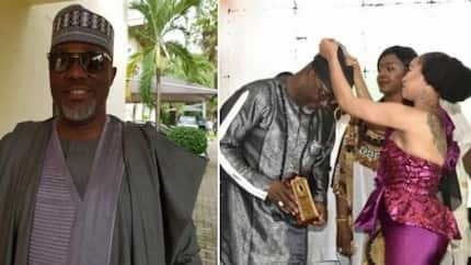 Dino Melaye is decorated as 'outstanding lawmaker of the year' by Tonto Dikeh (photos)